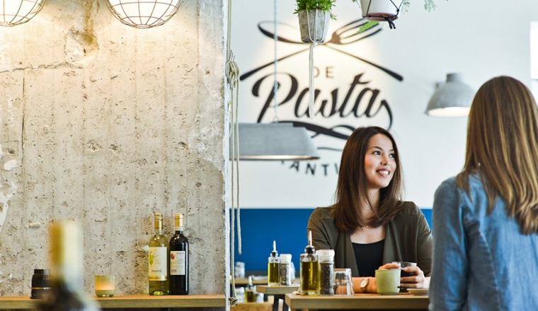 Interior Junkie proof pasta eten @ Pasta Kantine