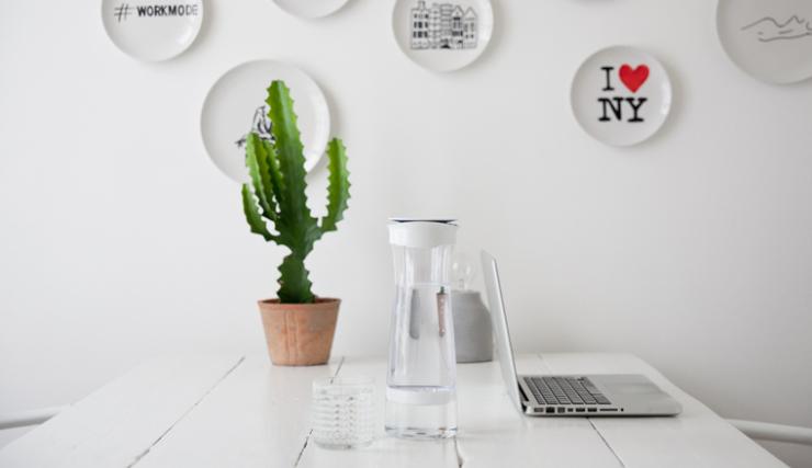 Fijn voor op je bureau: een Interior Junkie proof waterfilter