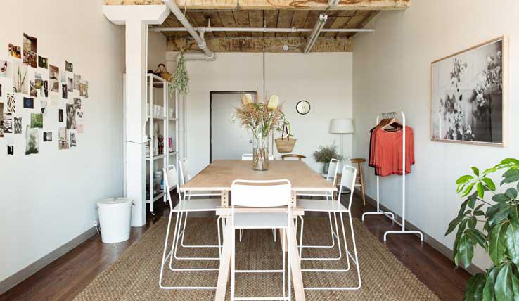 Binnenspieken in de werkstudio van blogger Jessica