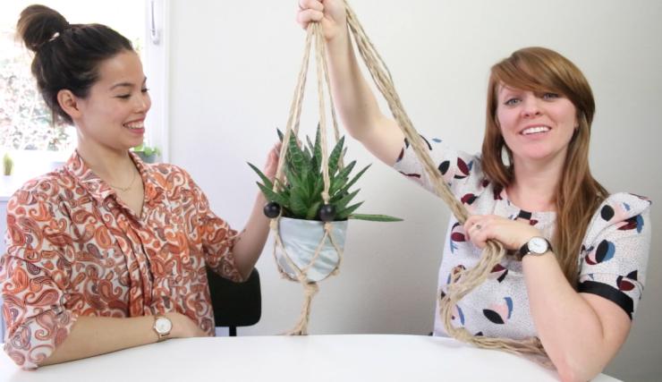 VIDEO: Maak je eigen macramé plantenhanger + win er één!