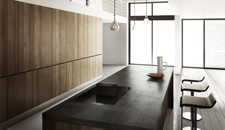 Drie Zones Keuken : Drie keer raden waar in deze keuken de afzuigkap zit interior
