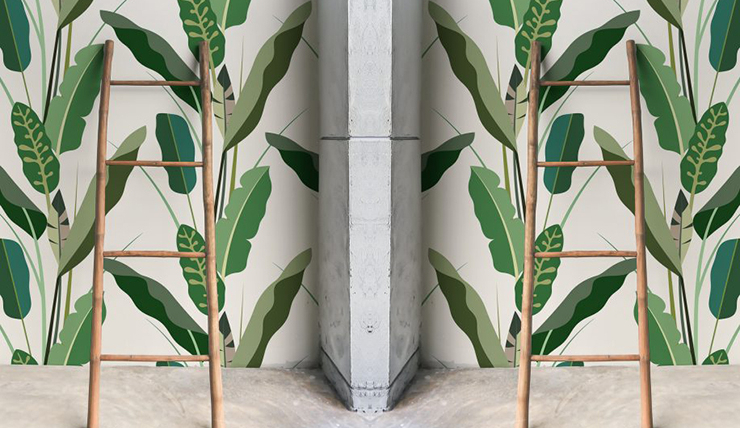 Behang Kleur Eucalyptus : Woonvondst tropisch behang interior junkie
