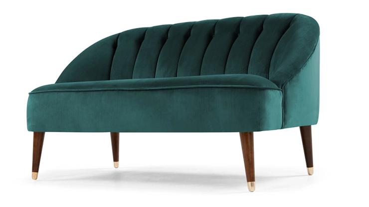 liefde voor deze smaragdgroene fluwelen bank interior. Black Bedroom Furniture Sets. Home Design Ideas