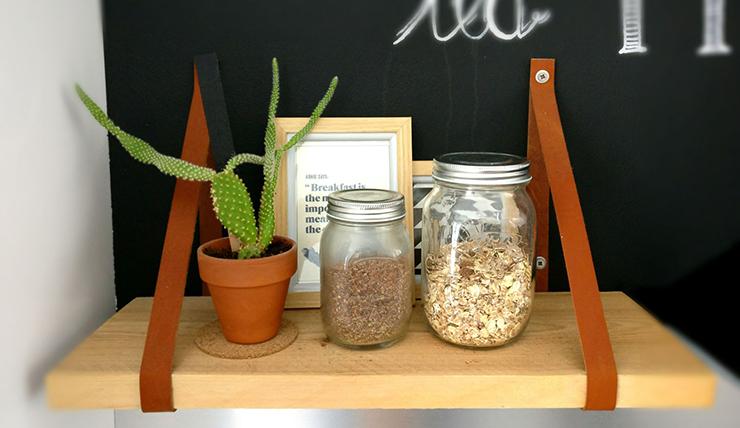 DIY: spelen met details van leer in huis