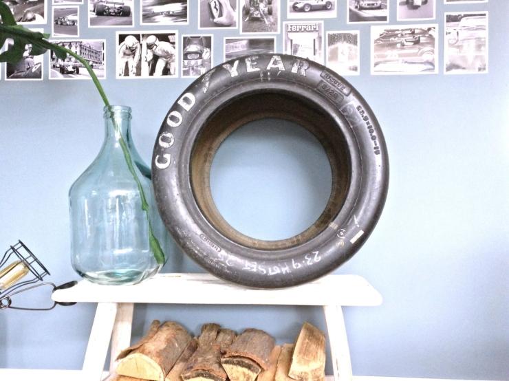DIY: van voormalige Formule 1 band tot salontafel