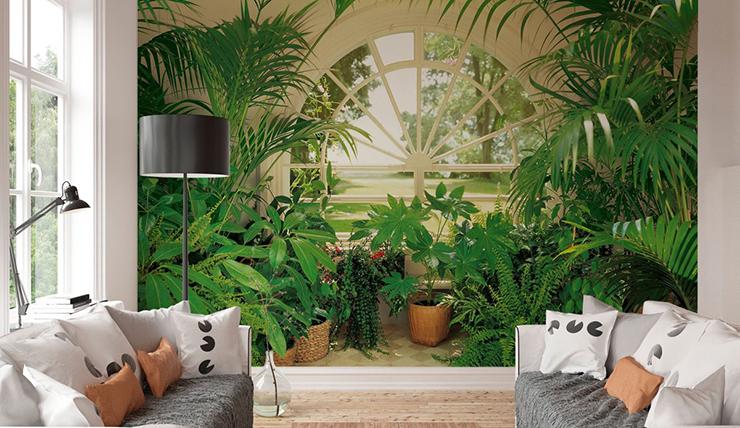 Net echt dit urban jungle behang interior junkie for Bloemen behang praxis