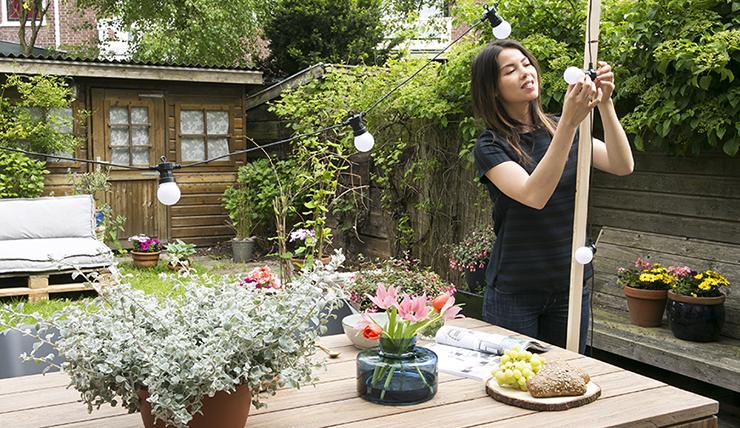 DIY: maak je eigen lichtslinger standaard