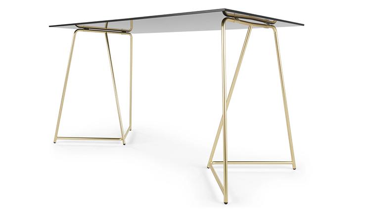 Voorkeur Liefde voor dit glazen bureau met gouden poten - INTERIOR JUNKIE EB17