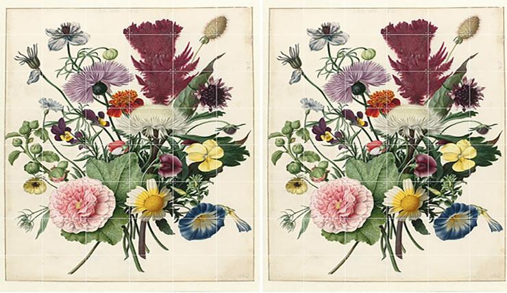 header wanddecoratie bloemen