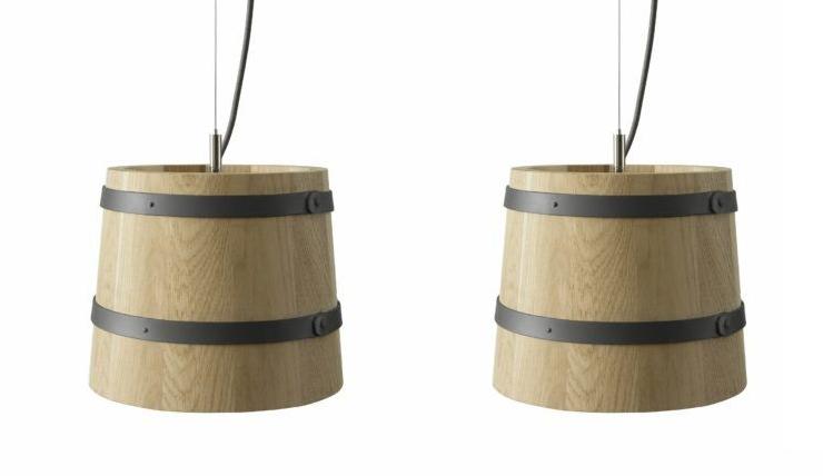 Deze lamp is geinspireerd op een wijnvat