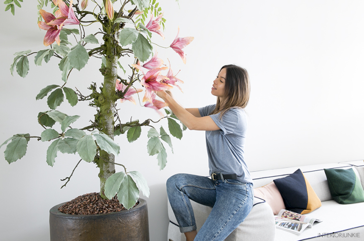 Blij! Eindelijk weer een boom in mijn woonkamer - INTERIOR JUNKIE