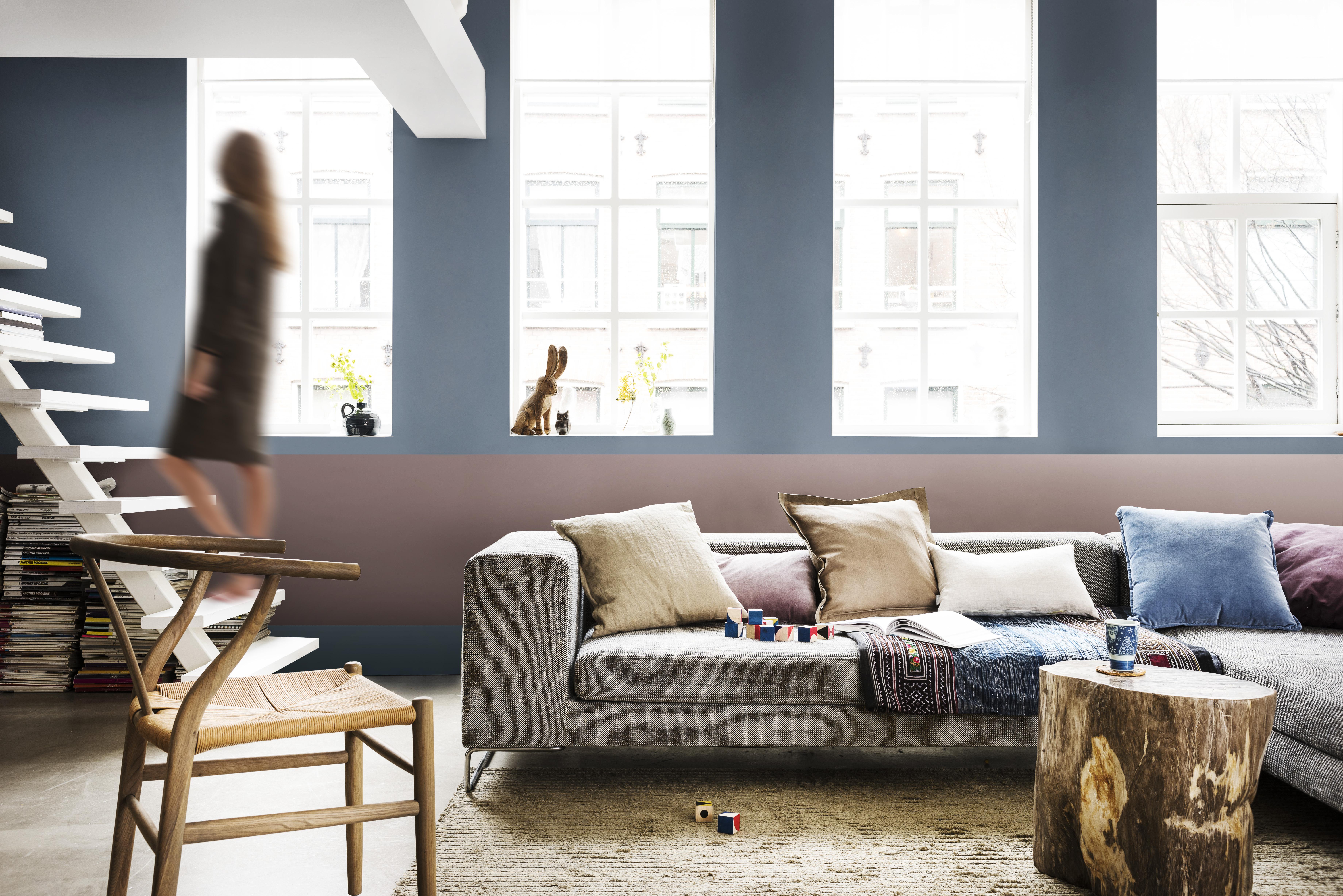 Modern interieur woonkamer kleuren strak devos interieurs