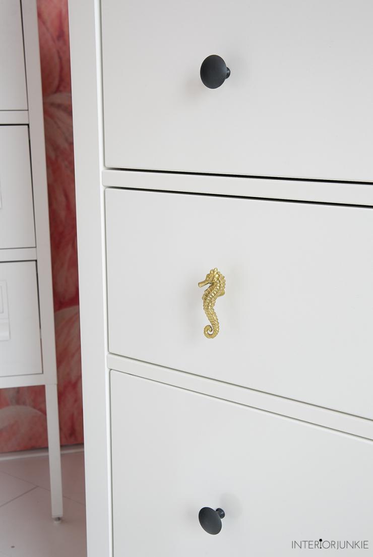 ikea hack pimp je ladekast met gouden knopjes interior. Black Bedroom Furniture Sets. Home Design Ideas