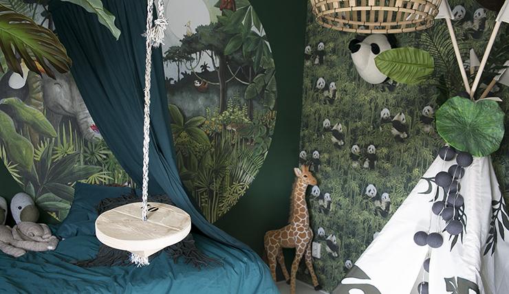 Schommel In Kinderkamer : Doen! een schommel in een stoere jongenskamer interior junkie