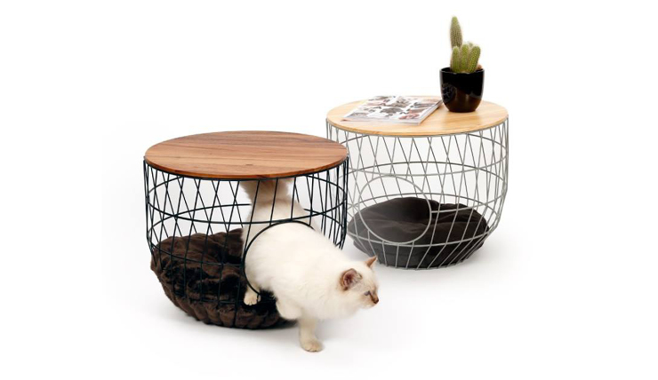 Bijzettafel Mand Met Deksel.Omg Een Bijzettafel En Kattenmandje In Een Interior Junkie