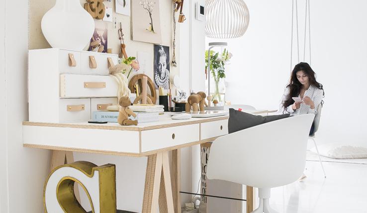 Zo style jij een werkplek in de woonkamer - INTERIOR JUNKIE