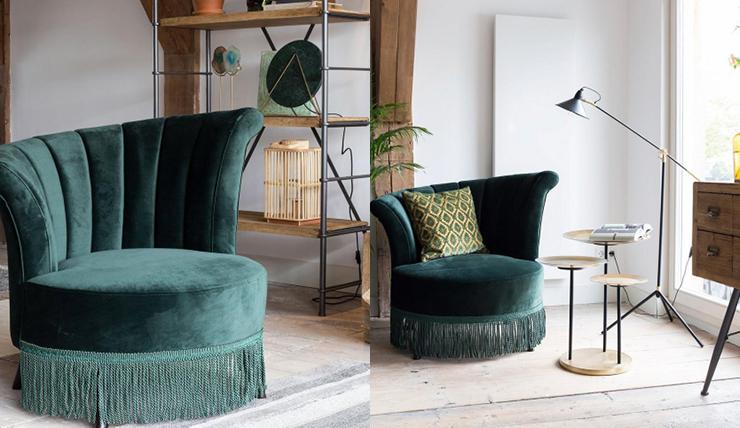 Haal de roaring twenties in huis met deze fluwelen fauteuil