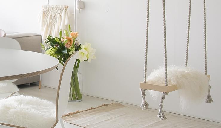 Schommel In Huis : Doen! een schommel voor in de woonkamer interior junkie