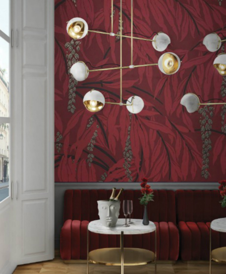 Valentine's Corner|Romantic Red Place with Art Deco Lamp