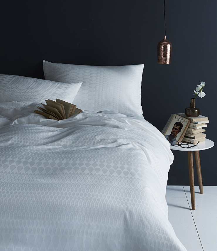 Margo Selby Sussex White Cotton Duvet Cover