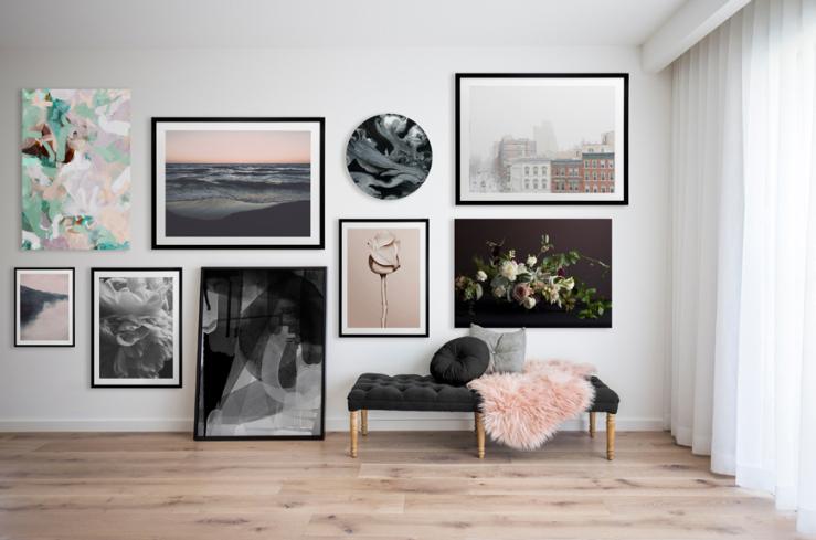 Slaapkamer Met Kunstmuur : Muur inspiratie: tips voor betaalbare kunst interior junkie