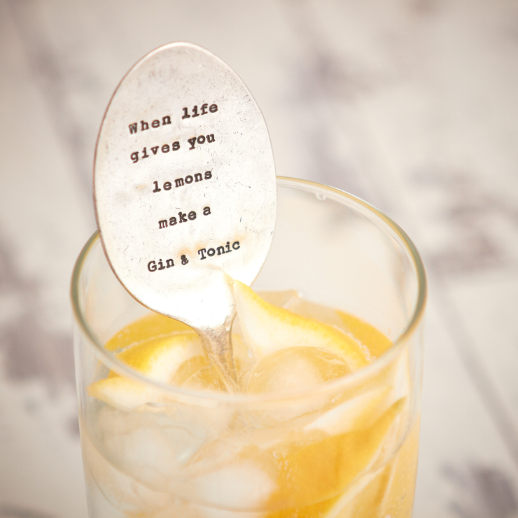 Drink Stirrer 'When life gives you Lemons'