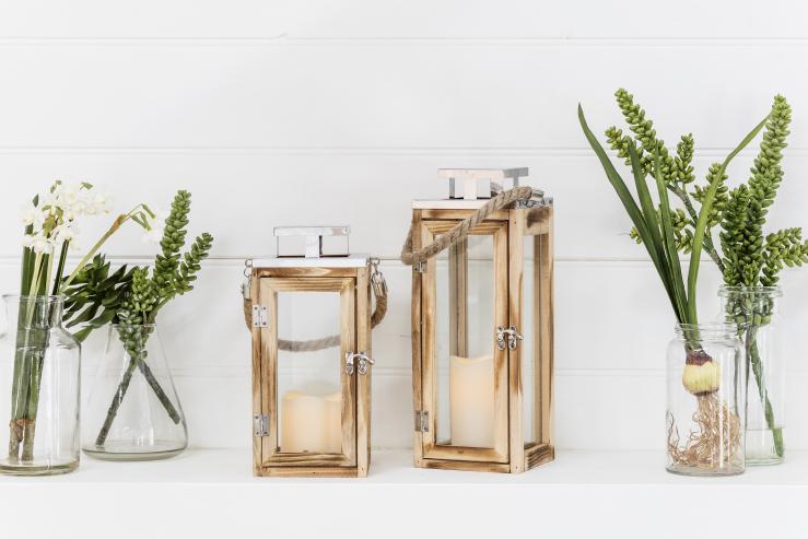 Salcombe Wooden Indoor Lanterns _ Secret Garden Collection 2018