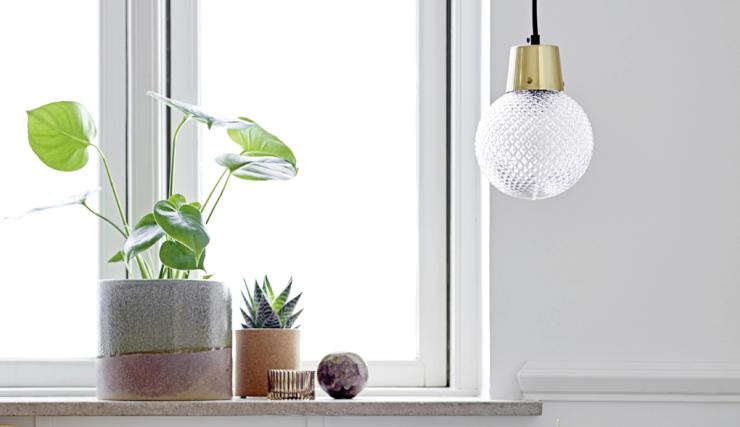 Verliefd op deze hanglamp met gouden touch
