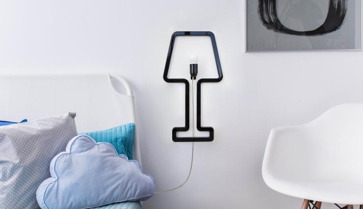 Haal de pop art sfeer in huis met deze bijzondere wandlamp