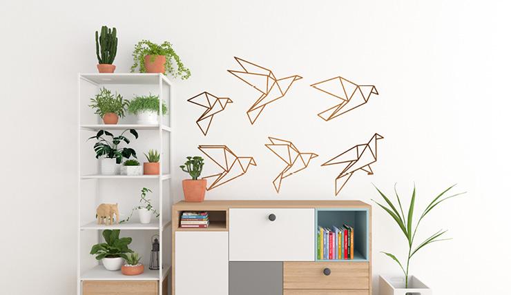 Muurdecoratie woonkamer natuur muursticker thema jungle palmbladeren