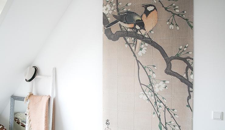 Kies eens voor een grote muurprint op je slaapkamer