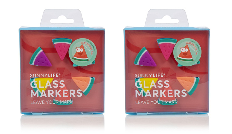 Geef je glazen een vrolijke look met deze zomerse glasmarkers