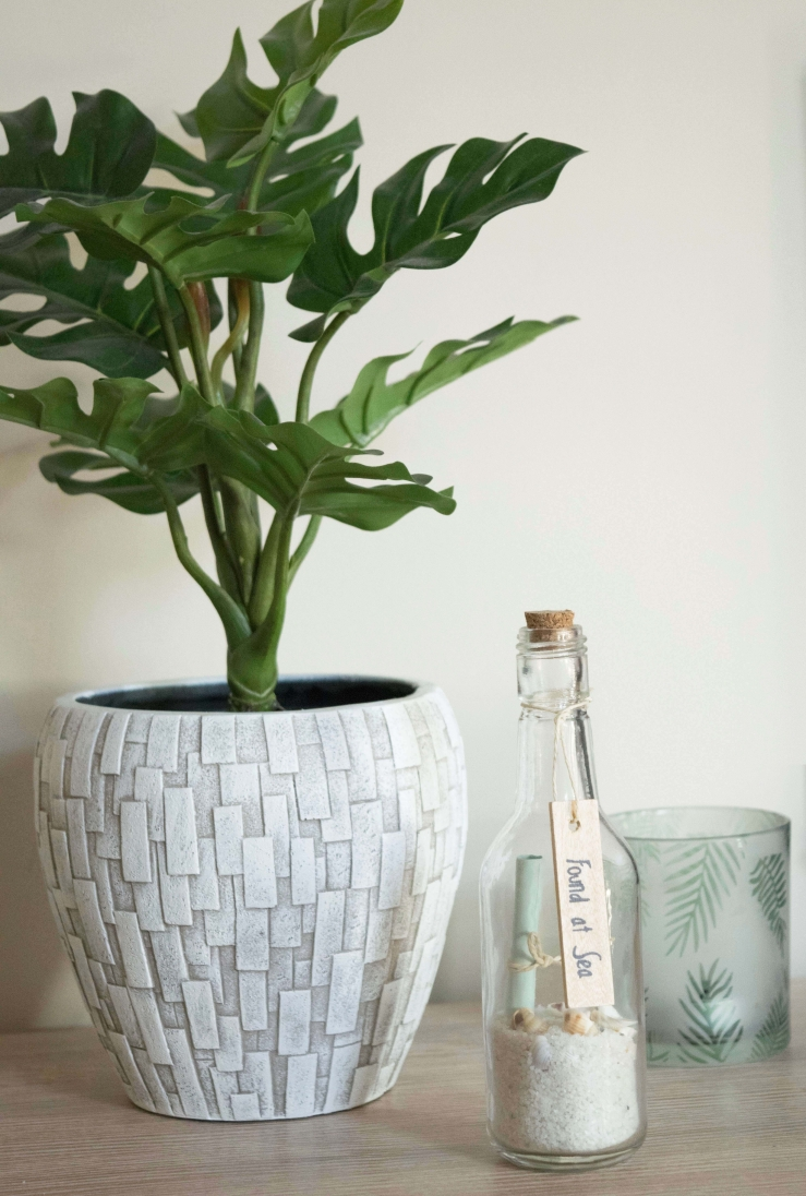 Kunstplant in bloempot - planten