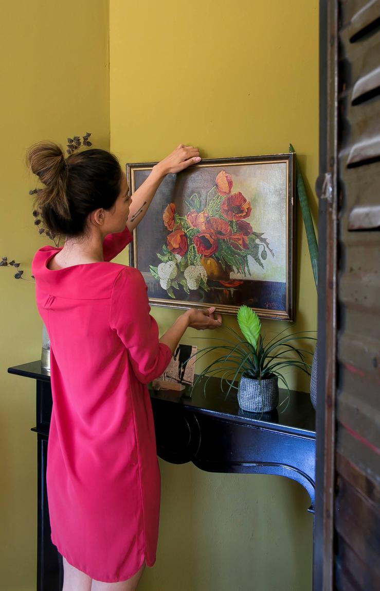 Mijn muur opvrolijken met een oud schilderij