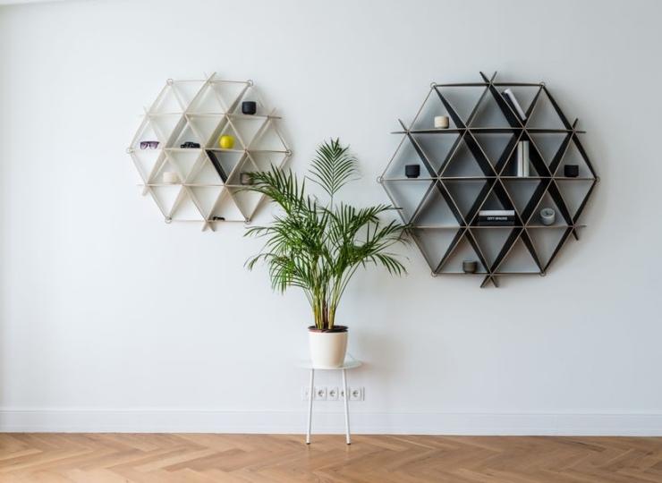 Geometrische vormen - boekenkast