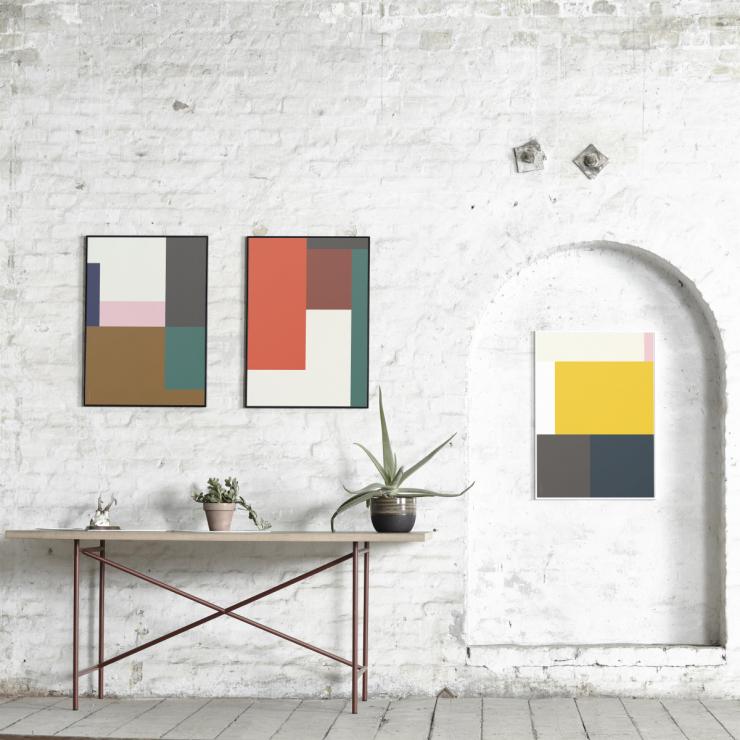 Geometrische vormen - poster - Scandinaviandesigncenter