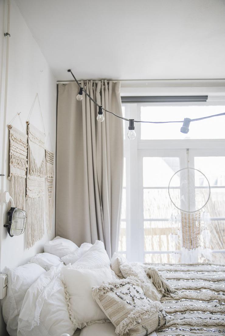 Lichtslinger in de slaapkamer: o zo romantisch