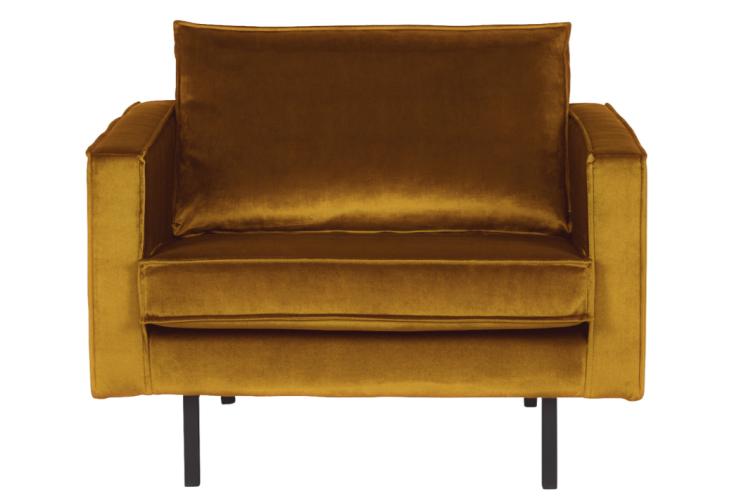 Woonfavorieten: fluwelen fauteuil + tropisch kussentje