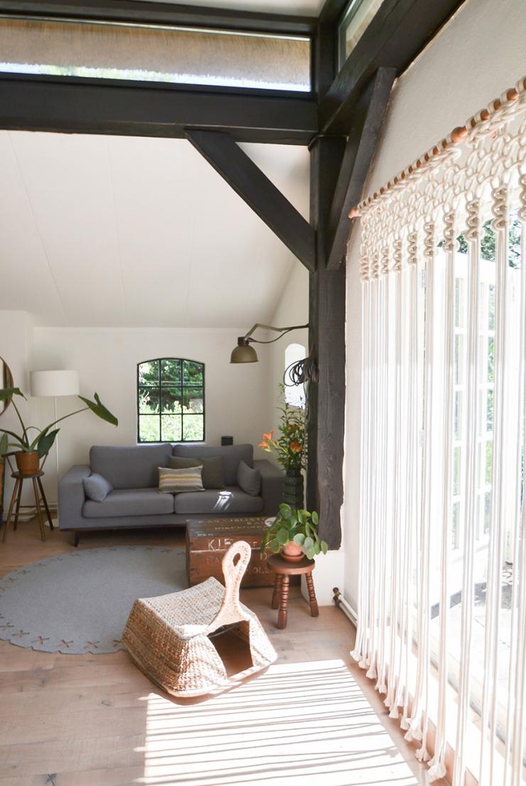 Thuis in het idyllische boshuisje van Evelien