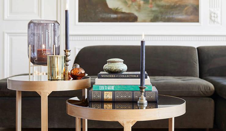 Mijn woonfavorieten: gouden borden en kekke lamp