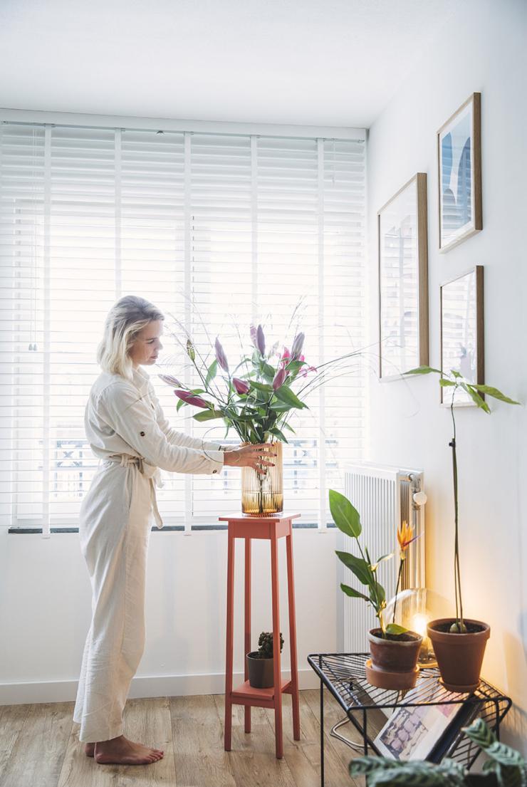 Thuis in de planten jungle van Karen in Amsterdam