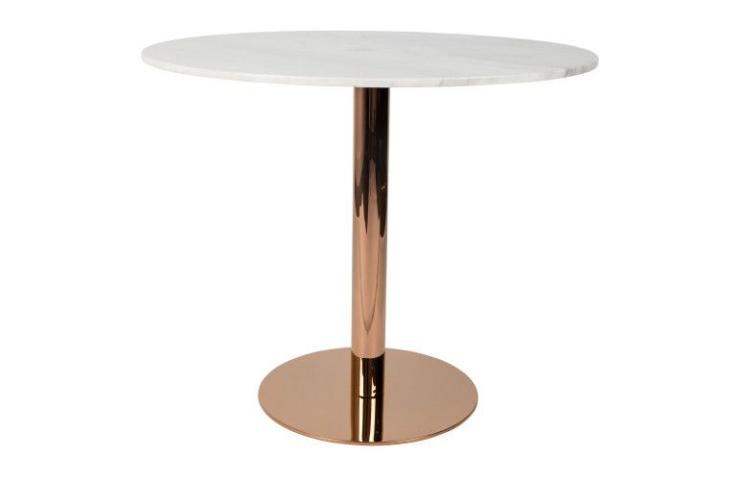 Een marmeren ronde eettafel: o zo mooi!