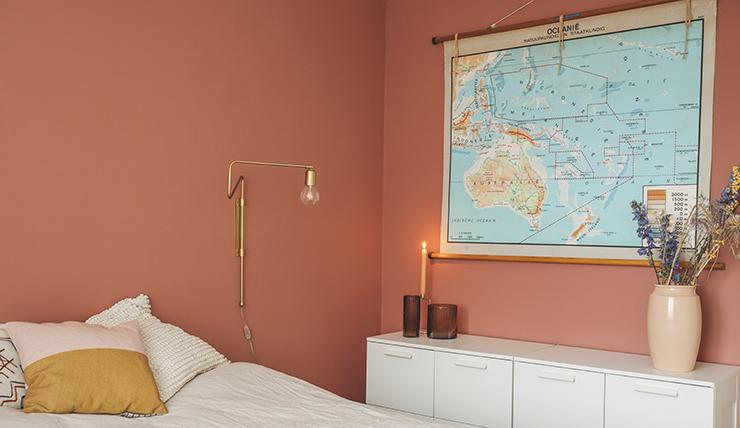 Kleur Voor Slaapkamer : Leuk voor je slaapkamer een roestbruine kleur op je muur