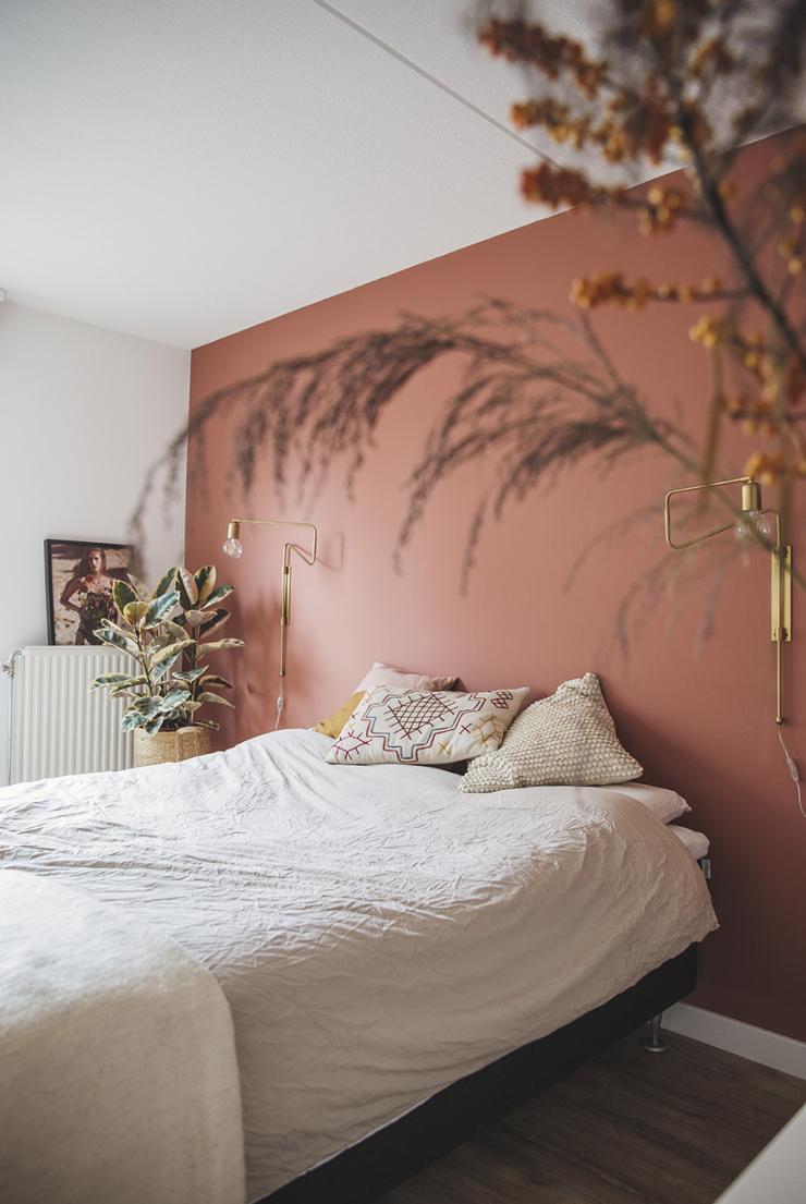 Super Leuk voor je slaapkamer: een roestbruine kleur op je muur SO-58