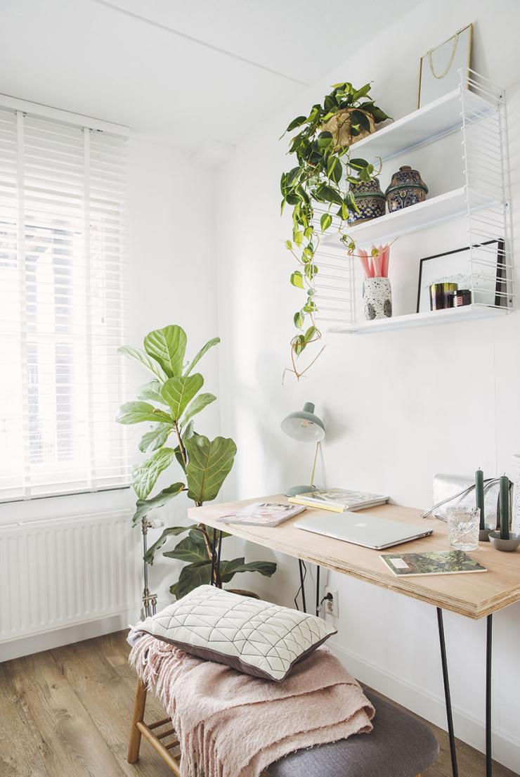 Klein maar fijn: deze thuiswerkplek