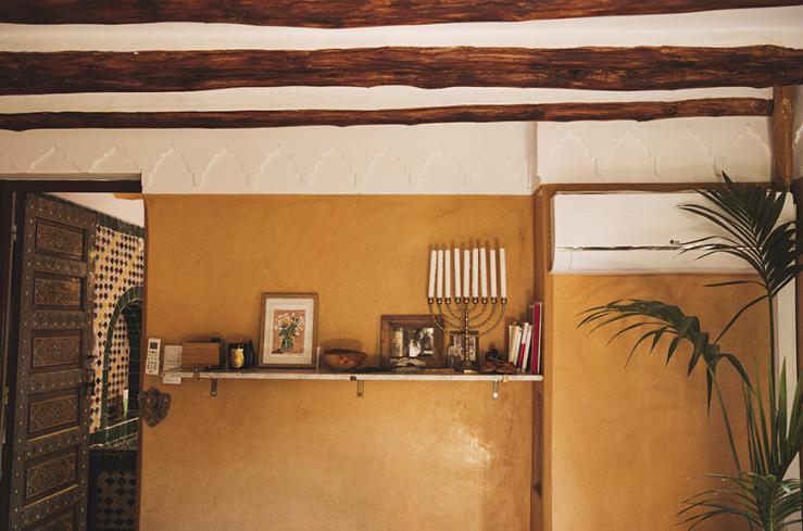 Thuis in de sprookjesachtige riad van Cyrielle en Julien