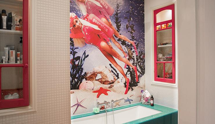 O zo mierzoet: een Barbie badkamer