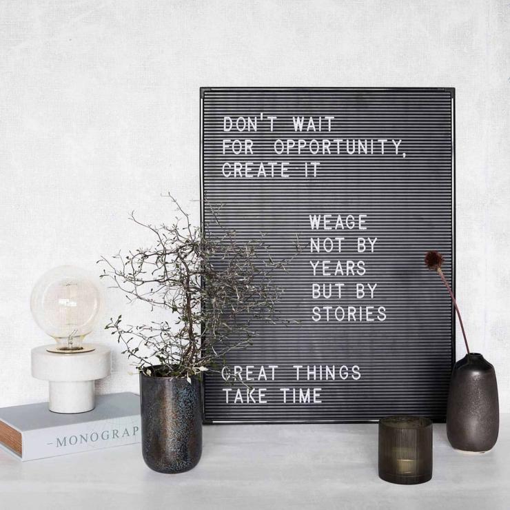 Maak een statement in huis met een letterbord of lichtbox