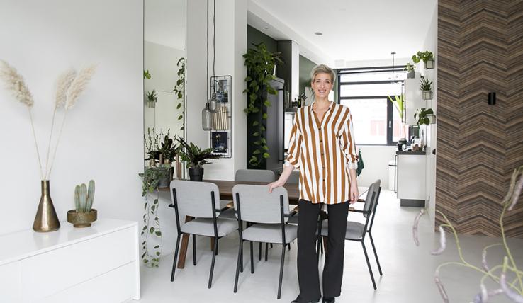 City chic wonen in het huis van interieurdesigner linn interior