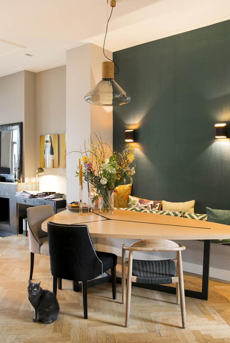 Thuis in het kleurrijke huis van interieurdesigner Mechtelien